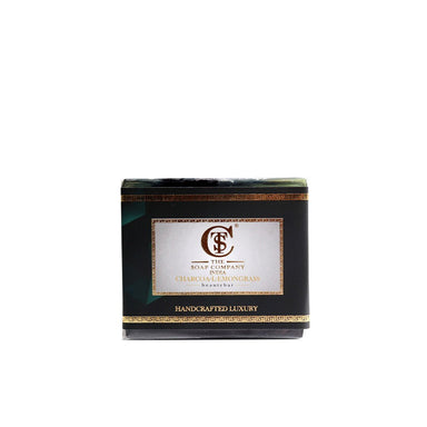 The Soap Company India Charcoal Lemongrass Beauty Bar with Activated Charcoal, Coconut, Lemongrass and Castor Oil -1