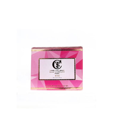 The Soap Company India Rose Beauty Bar with Rose, Vitamin E, Milk and Almond Oil -1