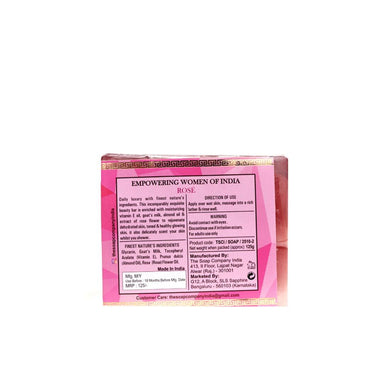 The Soap Company India Rose Beauty Bar with Rose, Vitamin E, Milk and Almond Oil -2