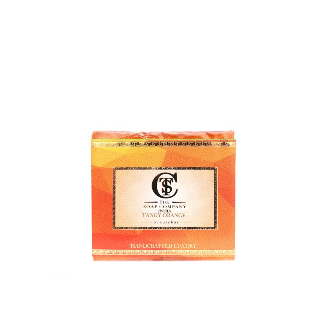 The Soap Company India Tangy Orange Beauty Bar with Orange Peel, Cinnamon, Jojoba and Almond Oil -1