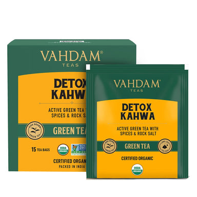 Vanity Wagon | Buy Vahdam Teas Detox Kahwa Green Tea