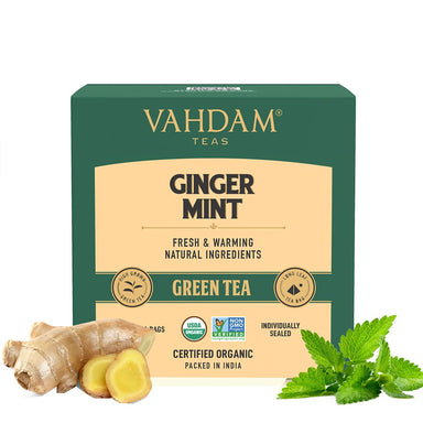 Vanity Wagon | Buy Vahdam Teas Ginger Mint Green Tea