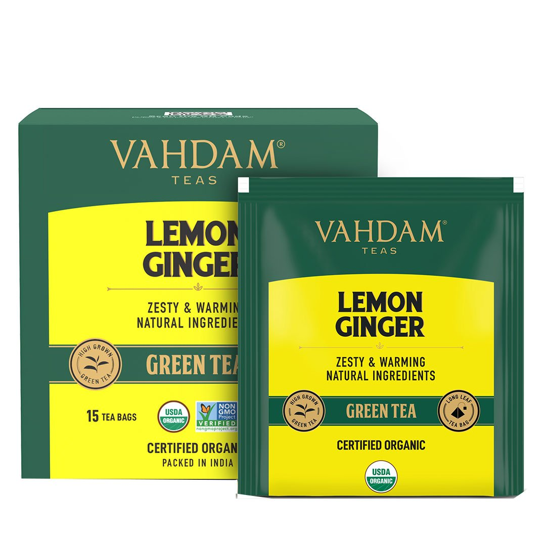 Vanity Wagon | Buy Vahdam Teas Lemon Ginger Green Tea