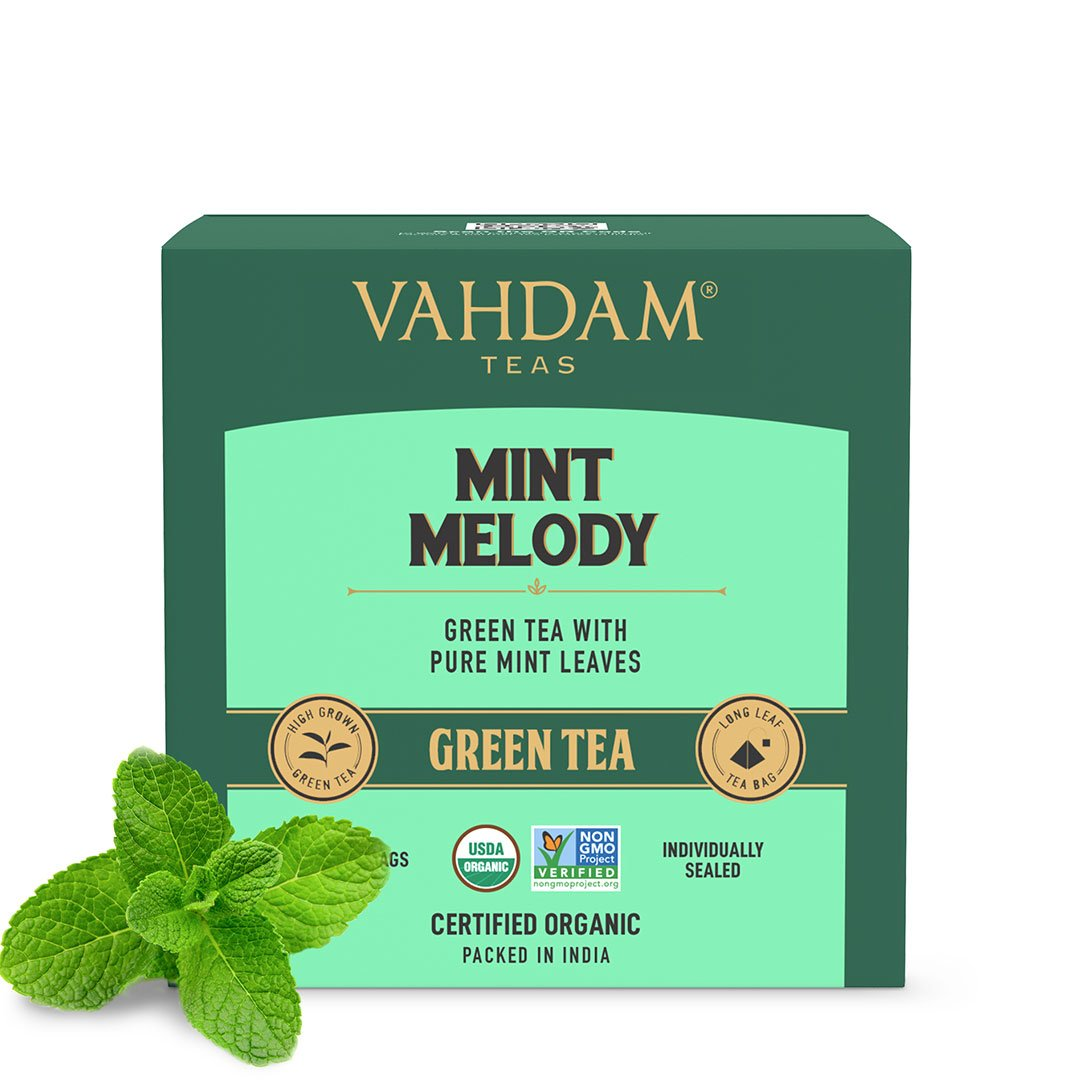 Vanity Wagon | Buy Vahdam Teas Mint Melody Green Tea