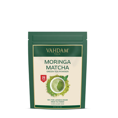 Vanity Wagon | Buy Vahdam Teas Moringa Matcha Green Tea Powder