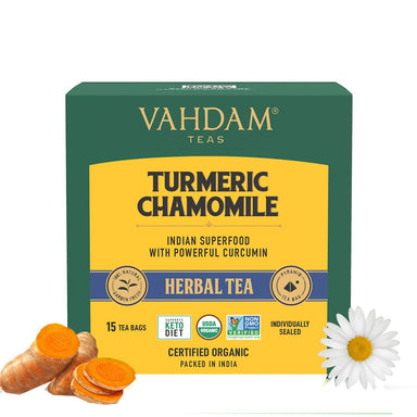 Vanity Wagon | Buy Vahdam Teas Turmeric Chamomile Herbal Tea