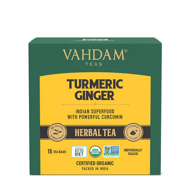 Vanity Wagon | Buy Vahdam Teas Turmeric Ginger Herbal Tea Tisane