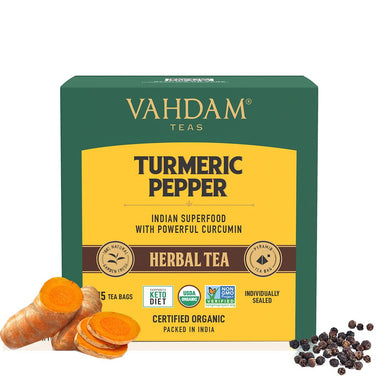 Vanity Wagon | Buy Vahdam Teas Turmeric Pepper Herbal Tea