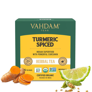 Vanity Wagon | Buy Vahdam Teas Turmeric Spiced Herbal Tea Tisane