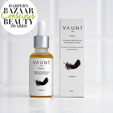 Vanity Wagon | Buy Vaunt Tamanu and Cranberry Seed Face Oil with Vitamin F Forte