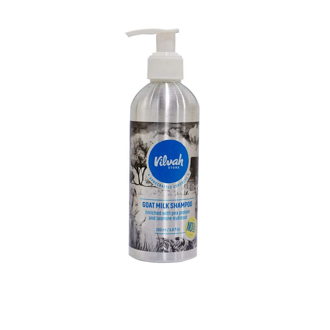 Vilvah Store Goat Milk Shampoo with Pea Protein & Jasmine Hydrosol