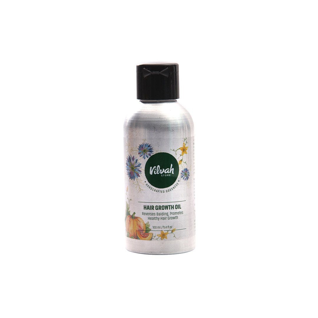Vilvah Store Hair Growth Oil, Reverses Balding, Promotes Healthy Hair Growth