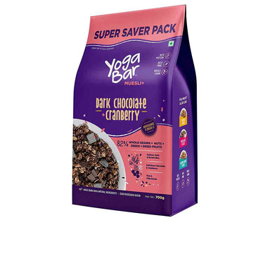 Vanity Wagon | Buy Yoga Bar Wholegrain Breakfast Muesli with Dark Chocolate + Cranberry