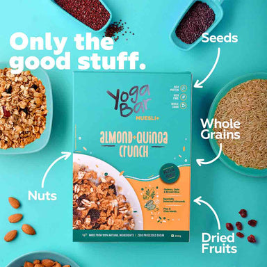 Vanity Wagon | Buy Yoga Bar Wholegrain Muesli with Almond + Quinoa Crunch