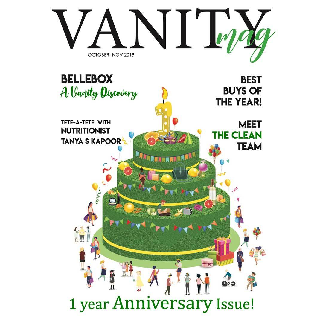 Vanity Mag,Three layer green cake, 1 year Anniversary, Magazine Cover