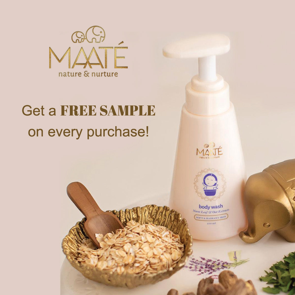 Free Sample on every purchase of Maate products