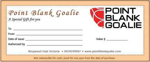 Point Blank Goalie Gift Certificate