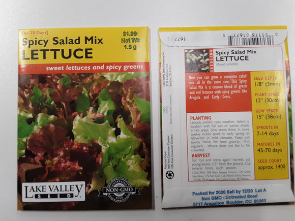 Lettuce - Spicy Salad Mix