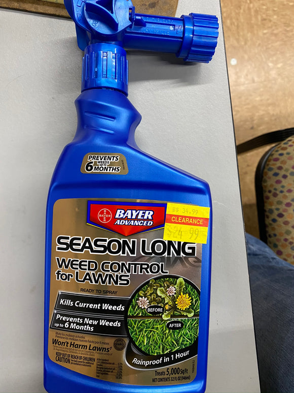 Bayer Advanced Season Long Weed Control for Lawns 32 OZ Ready-to-Use