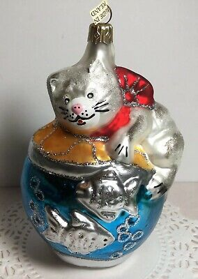 Cat on a Fishbowl Christmas Ornament
