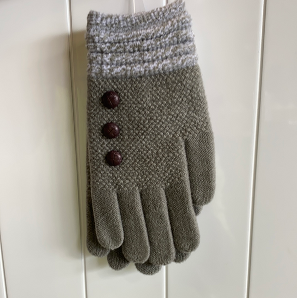 Grey classic gloves