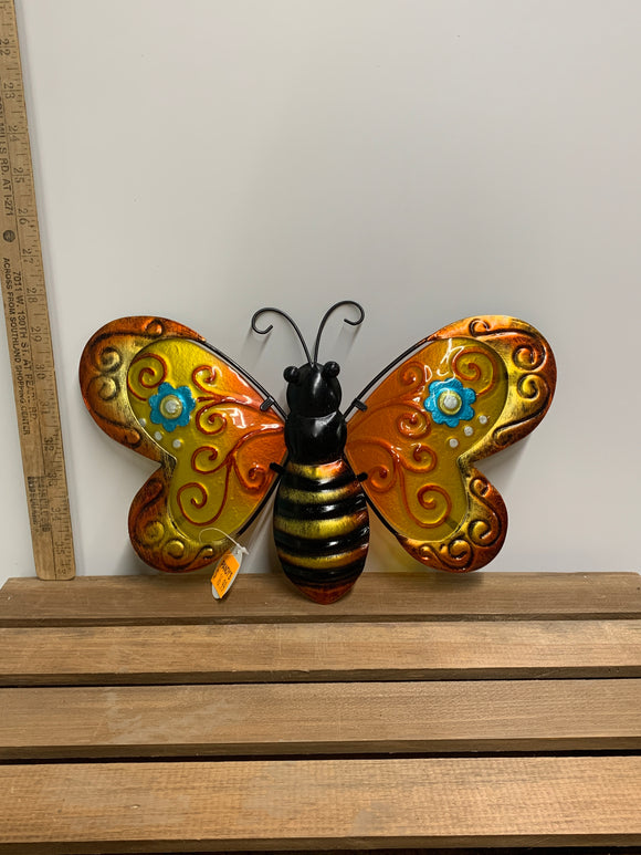 Orange Metal Butterfly