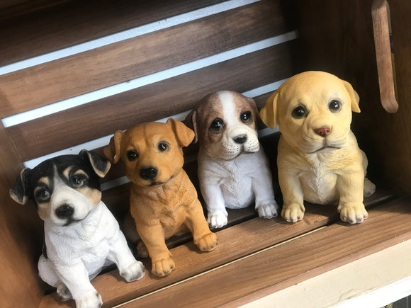 Small dog statues