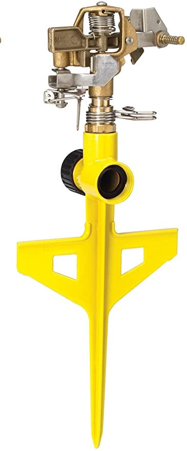 ColorStorm Premium 6-Inch Metal Stake Impulse Sprinkler, Yellow
