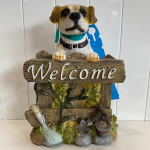Jack Russell welcome statue