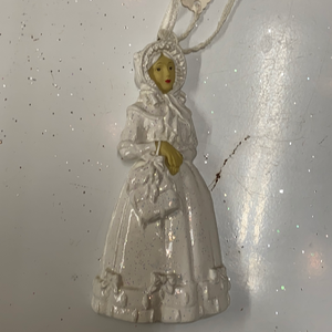 Holiday Snowflake Ornament Woman in All White