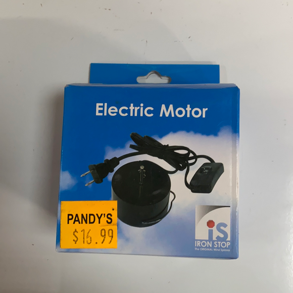 Electric motor wind spinner accessory