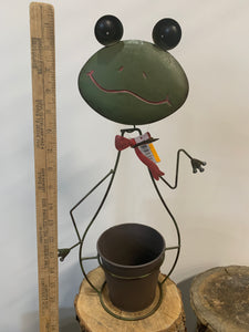 Frog- Metal Flower Pot Holder