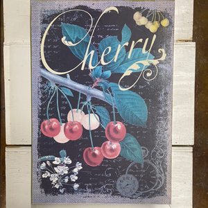 "Farm Section Decor ""Cherry"" Canvas 12""x16"""