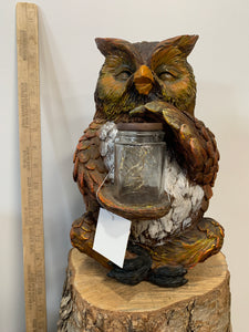 Owl- Sitting With Jar
