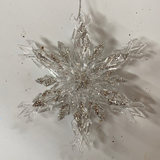 Holiday Crystal Section 3D Crystal Snowflake with Silver Sparkles