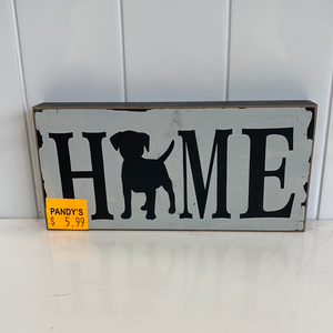 Sign: Home