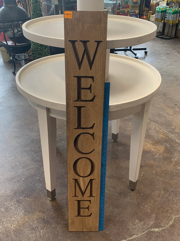 Sign: Welcome