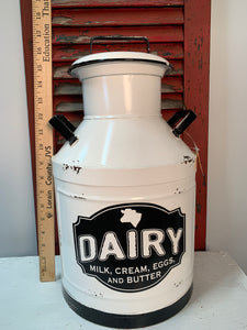 Metal milk container
