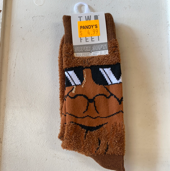 Sasquatch and learn socks big feet