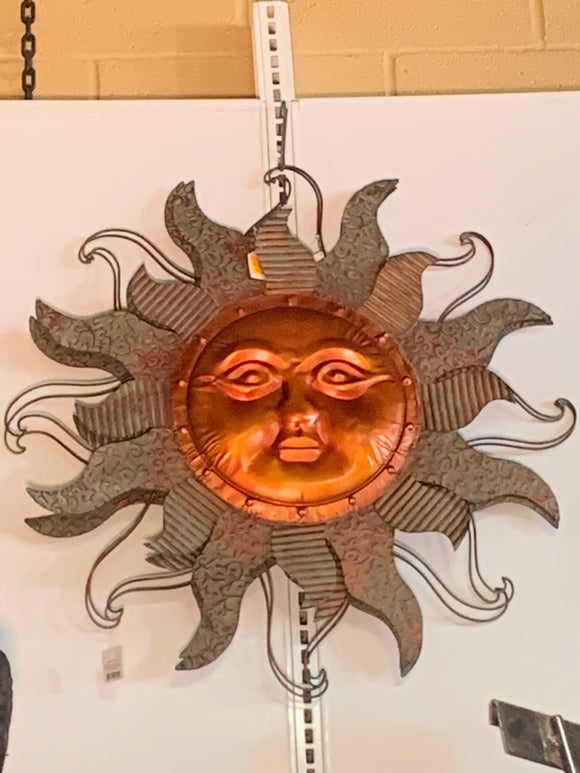 Bronze and Metal Sun Face