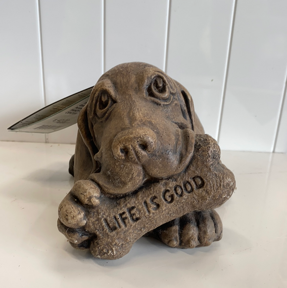 Life is good puppy statue