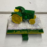 Holiday Farm Section Decor Tractor Stocking Holder 2
