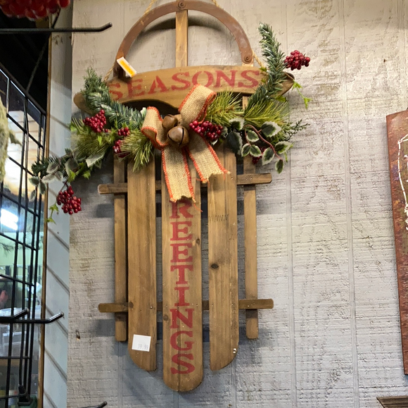 """Seasons Greetings"" sled"