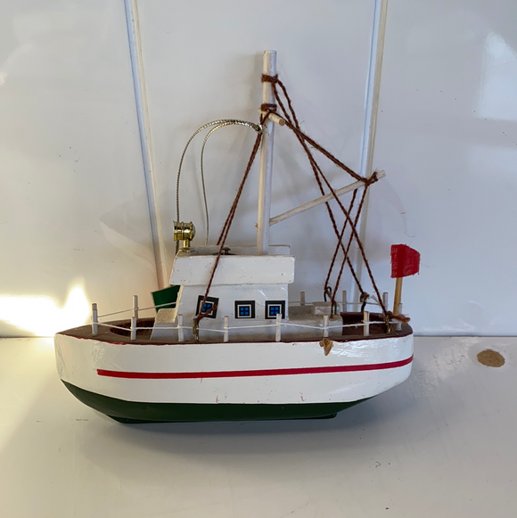 Nautical section ornament fishing boat