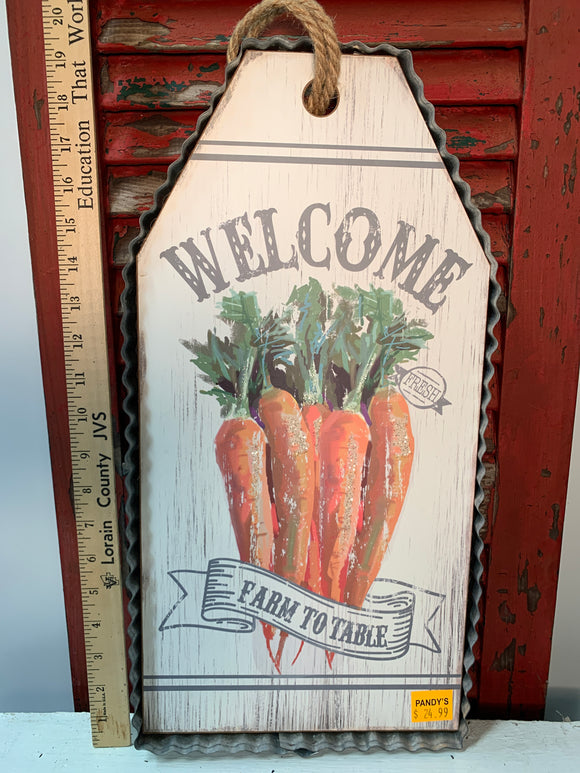 Country style welcome sign