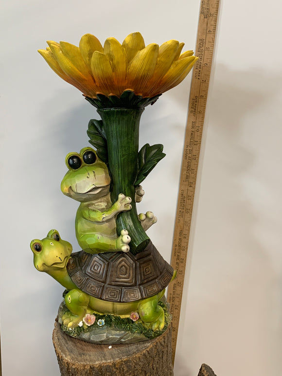 Frog and Turtle With Sun Flower
