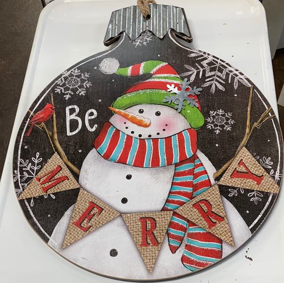 "Holiday ""Be Merry"" Wall Hanging"