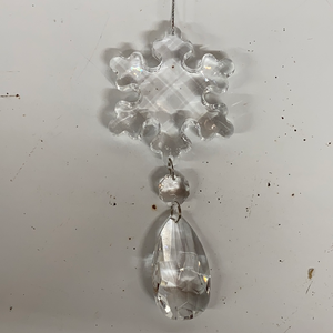 Holiday Crystal Section Three Crystal Chain with Snowflake at Top