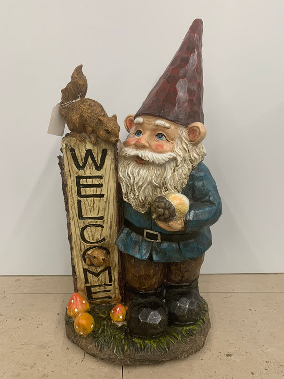Large Welcome Nature Gnome