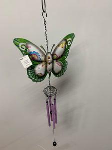 Purple Metal Butterfly Wind Chime